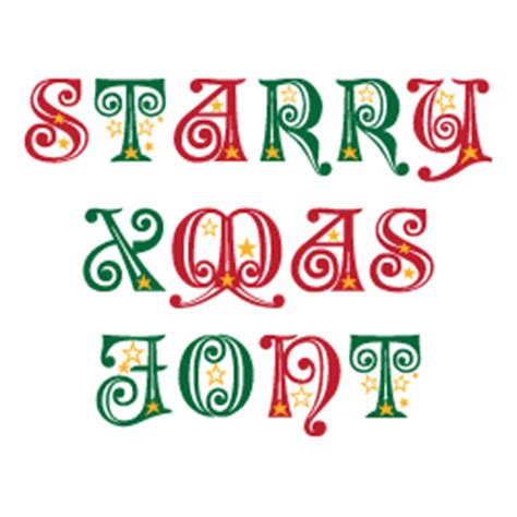 starry christmas font  embroidery patterns home format fonts  embroiderydesignscom