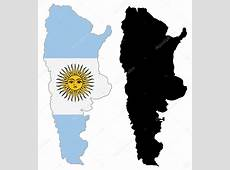 Argentina map flag — Stock Vector © julydfg #9578877