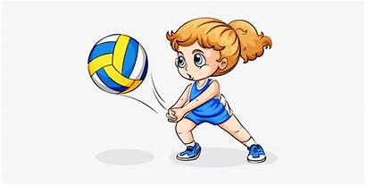 Volleyball Clip Clipart Play Player Female Sport
