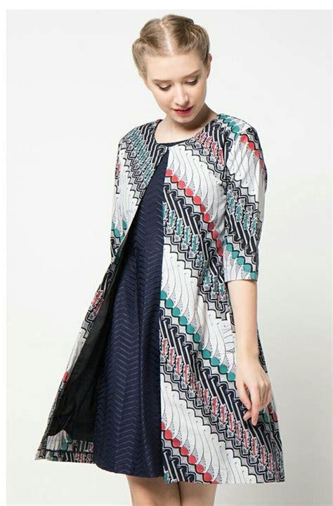 baju batik atasan model baju muslimah batik terbaru