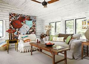 Magical, White, Cabin, Interior, Design, By, The, Lake