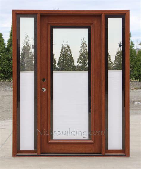 exterior door with blinds blinds between glass