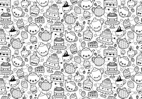 tea party coloring page   vector art stock