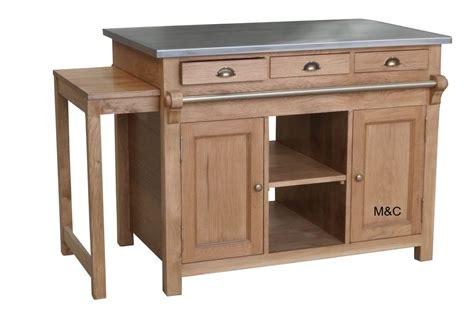 ilot cuisine bois table cuisine en bois cuisine table bois m if avec clair