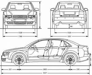 Dimension Audi A4 : the blueprints cars audi audi a4 limousine ~ Medecine-chirurgie-esthetiques.com Avis de Voitures