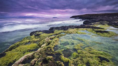 hd hintergrundbilder meer felsen riffe algen sturm