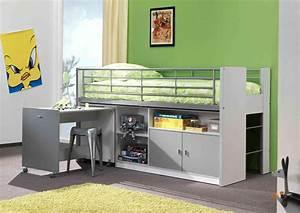 Lit Combiné Bureau : lit combine rangement ~ Premium-room.com Idées de Décoration
