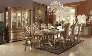 ACME Furniture Vendome Gold Patina Dining Set