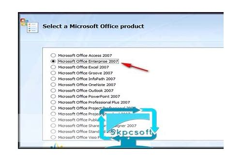 microsoft office enterprise 2007 suite free download