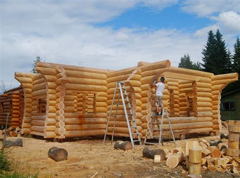 building a log cabin constructing your log home or cabin log home process
