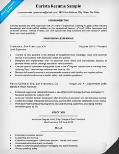 barista resume sample writing tips resume companion With barista resume template