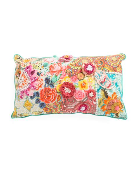 tj maxx decorative pillows made in india 14x24 floral pillow throw pillows t j maxx
