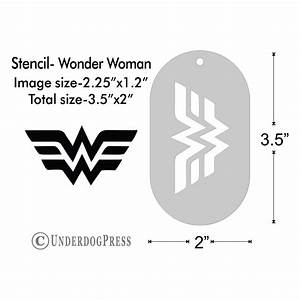Stencil - Wonder Woman logo, Medium from UnderdogPress on ...