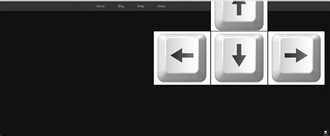 html button position like game controller css