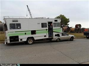 Funny Rv  Convert A Motorhome Into A Fifth Wheel