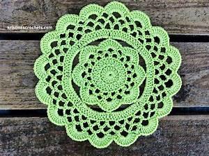Kristinescrochets   Easy Rustic Flower Doily Free Crochet