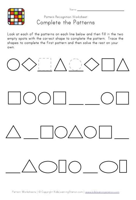best 25 patterning kindergarten ideas on 608 | 350cd33921e0d887aae9ae7216e49c6e school worksheets kindergarten worksheets