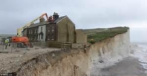 Demolition begins on Birling Gap cottage left 6 INCHES ...