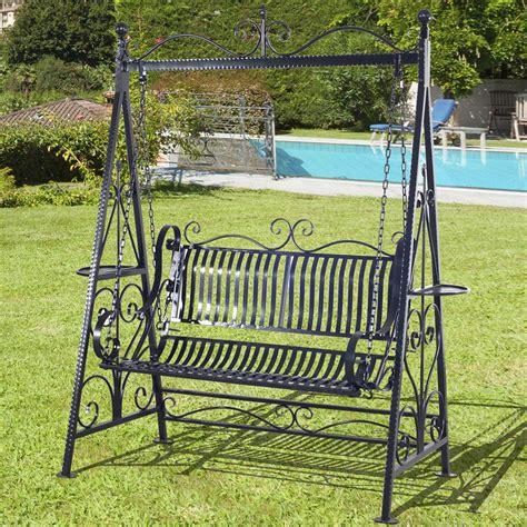 patio swing chair outsunny outdoor metal swing chair garden hammock bench