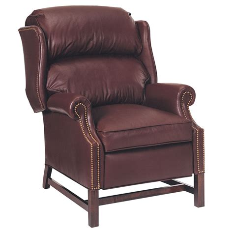 leather recliners for calhoun quot designer style quot inset arm traditional bustle back