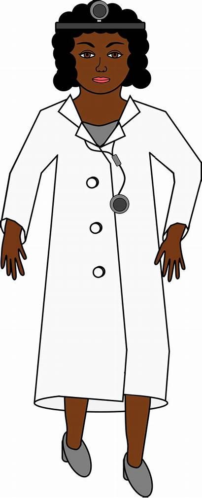 Doctor Clipart Clip Transparent Head Cartoon Female