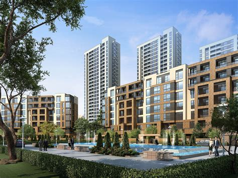 building design city commercial and residential building d 3d model