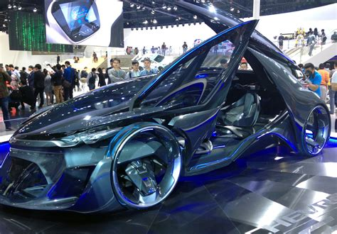 New Car Design : New Chevrolet Concept Car Draped In Dazzling Colour From