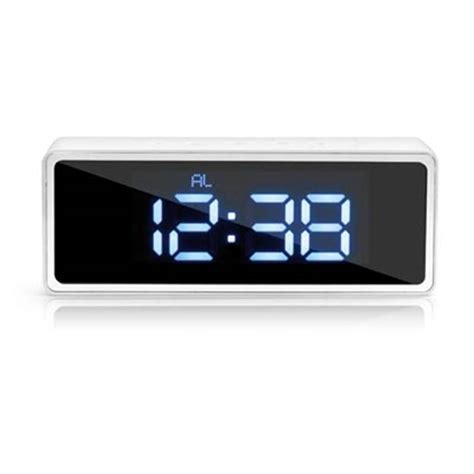 bureau informatique blanc reveil led temperature blanc