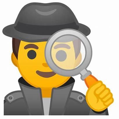 Icon Emoji Detective Icono Cartoon Whatsapp Google