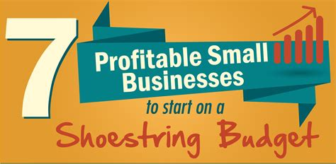 7 Profitable Small Businesses To Start On A Shoestring