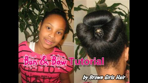 natural bun bow updo hairstyle tutorial youtube