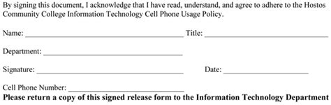 cell phone use policy template
