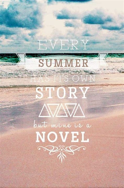 Summer Story  Quote Picture