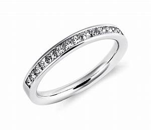 Princess cut platinum diamond rings wedding promise for Platinum princess cut wedding rings