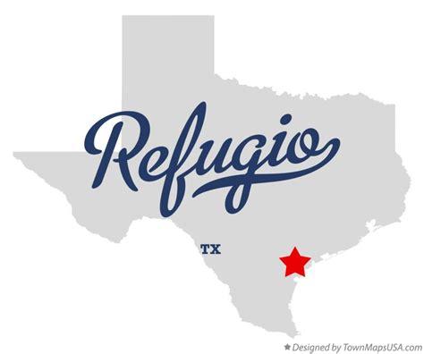 Map of Refugio, TX, Texas