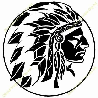 Indian Head Clipart Chief Clip Native American