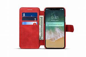 Premium Cowhide Wallet Card Slot Kickstand Case For iPhone ...