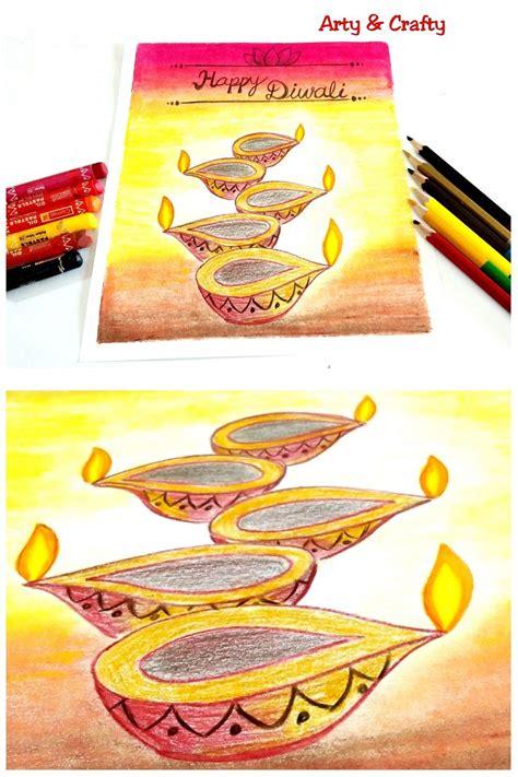 easy diwali drawing diwali diya drawing   draw