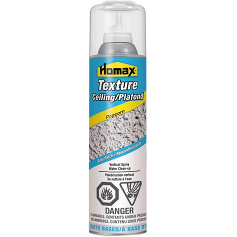 popcorn ceiling patch spray homax popcorn ceiling spray texture 14oz the home