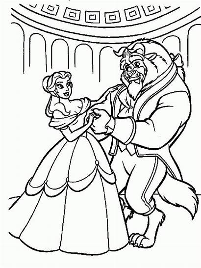 Beast Coloring Beauty Belle Pages Printable Disney