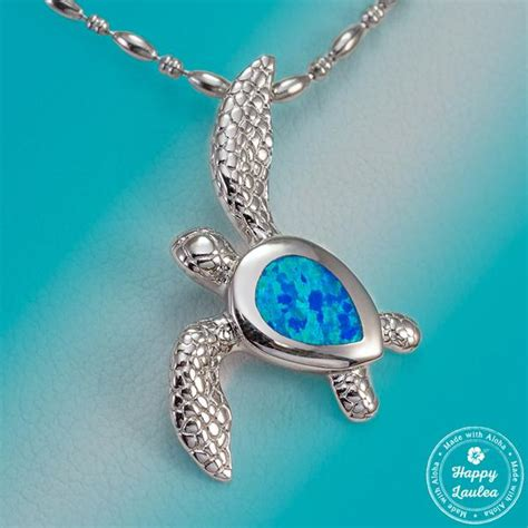 sterling silver realistic sea turtle hawaiian honu pendant