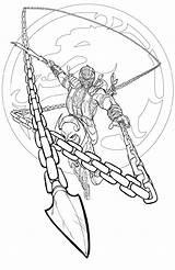 Mortal Kombat Coloring Scorpion Stryker Worksheets Printable K5worksheets Everybody Template sketch template