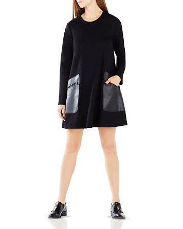 bcbgmaxazria farrah faux leather pocket dress bloomingdale s