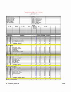 Sample Program Budget Template Construction Budget Template Sample Free Download