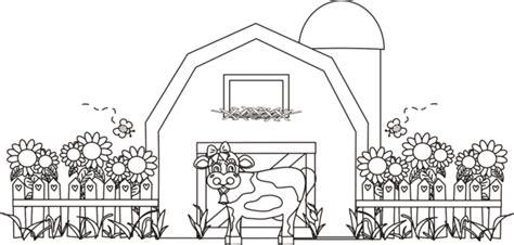 Barns Coloring Pages Farm Silos