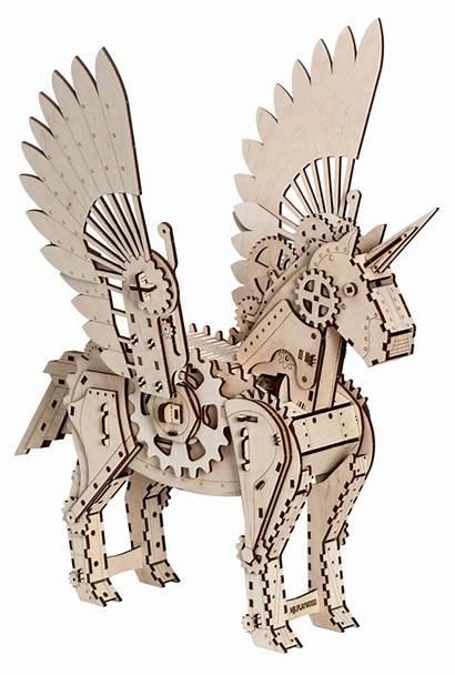 3d Puzzle Unicorn Mechanical Laser Wood Diy
