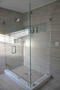 this stunning shower design showcases seta glazed With 12x24 tiles in bathroom