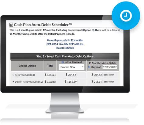 cash practice care plan calculator payment plans