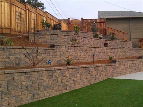 retaining wall on steep slope terraced retaining walls engineering feed