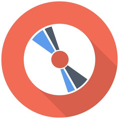 cd icon  flat multimedia iconset designbolts